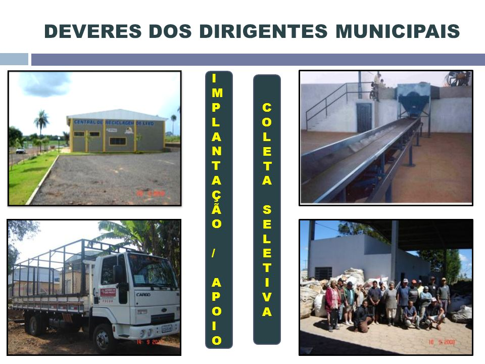 DEVERES DOS DIRIGENTES MUNICIPAIS