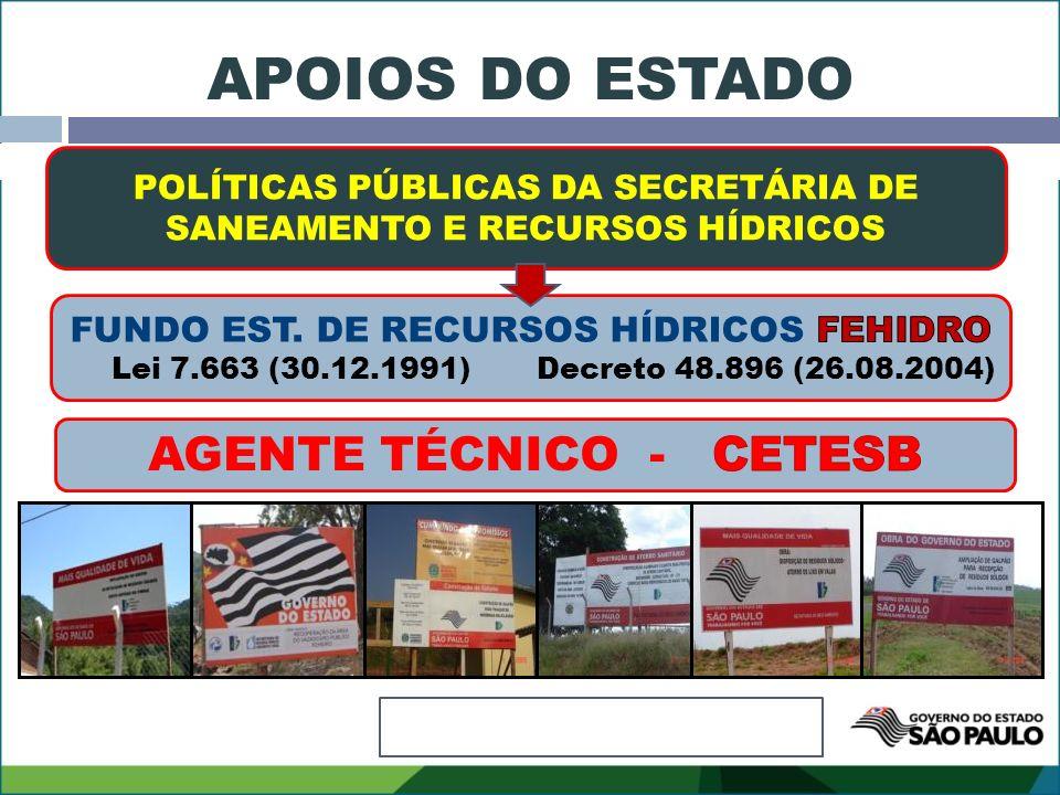 APOIOS DO ESTADO AGENTE TÉCNICO - CETESB