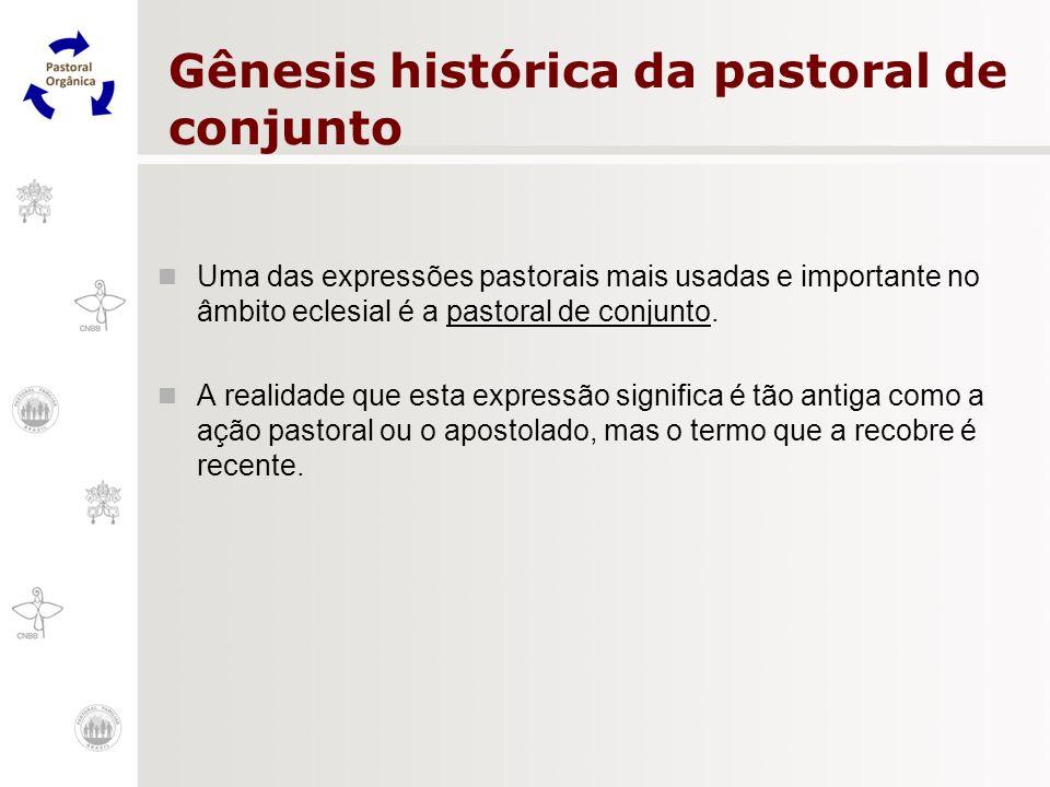 Gênesis histórica da pastoral de conjunto