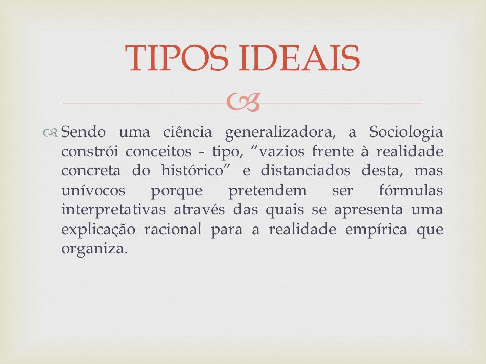 TIPOS IDEAIS