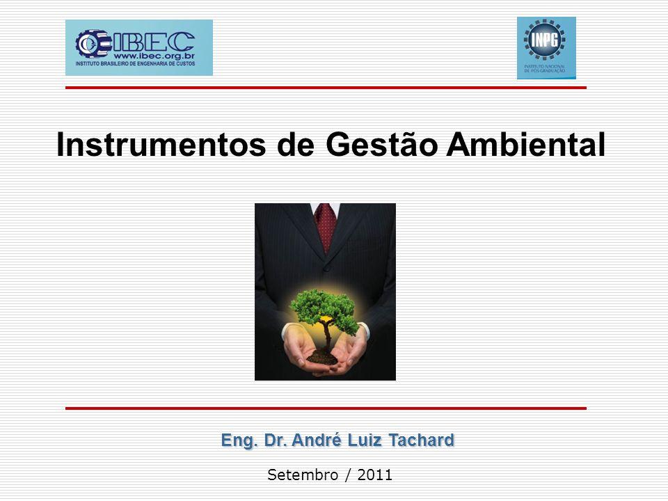 Instrumentos de Gestão Ambiental Eng. Dr. André Luiz Tachard
