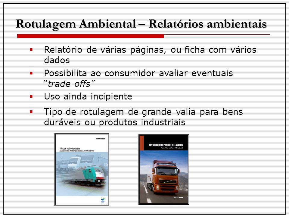 Rotulagem Ambiental – Relatórios ambientais