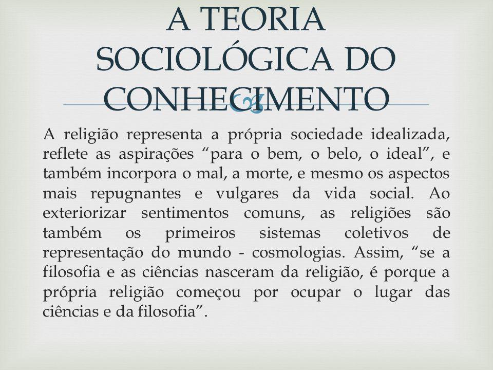 A TEORIA SOCIOLÓGICA DO CONHECIMENTO