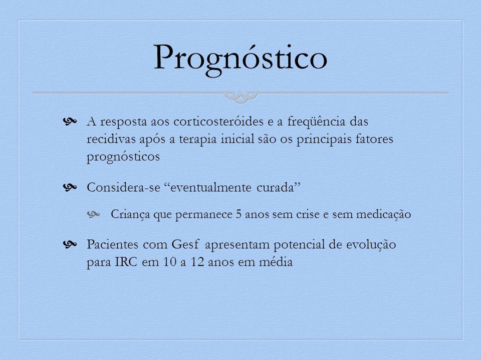 Prognóstico A resposta aos corticosteróides e a freqüência das recidivas após a terapia inicial são os principais fatores prognósticos.