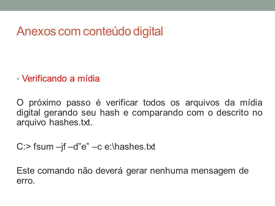 Anexos com conteúdo digital