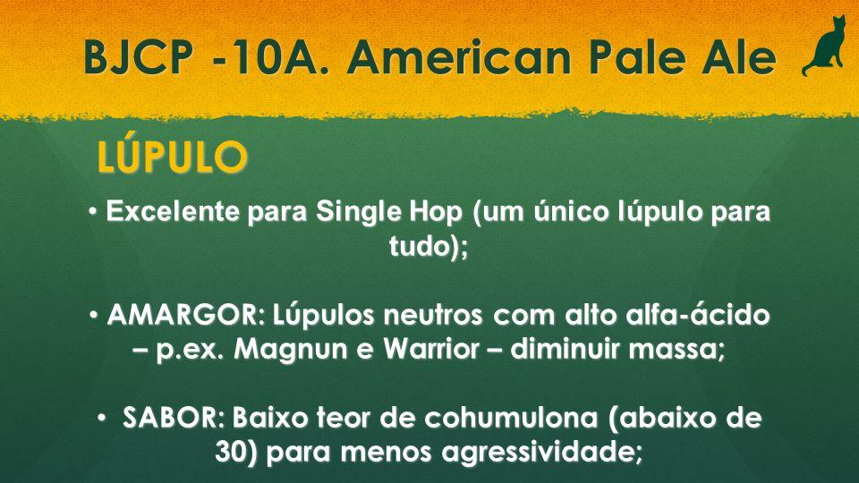 BJCP -10A. American Pale Ale