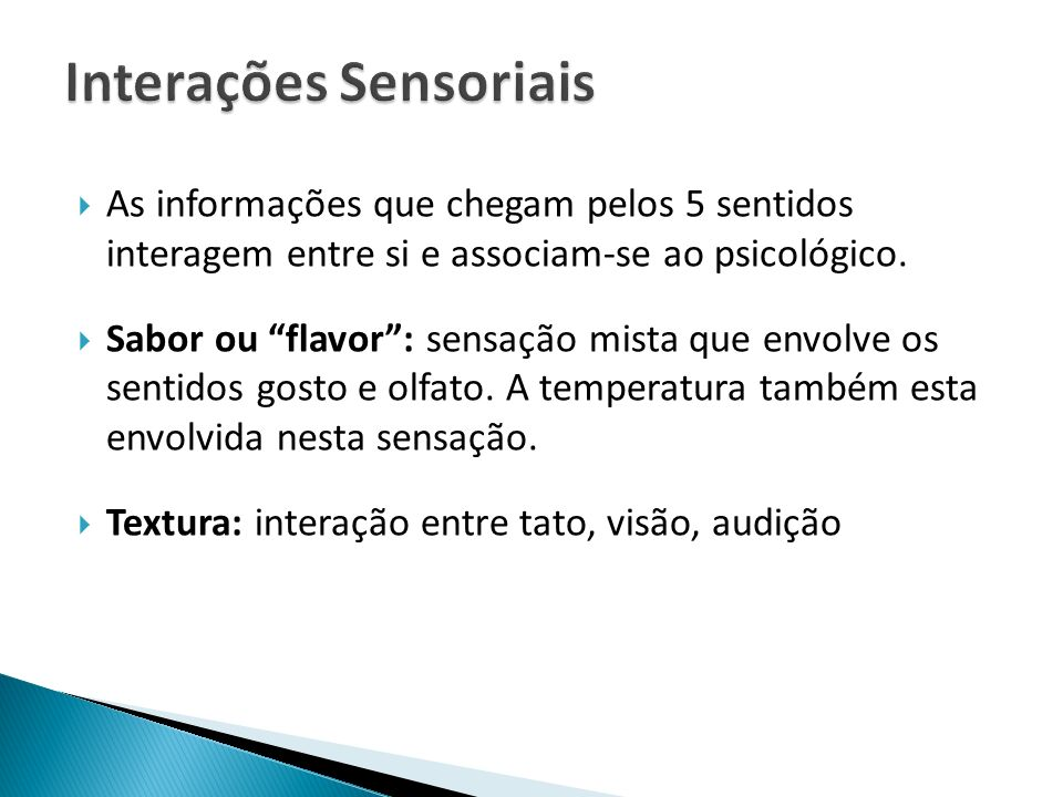 Interações Sensoriais
