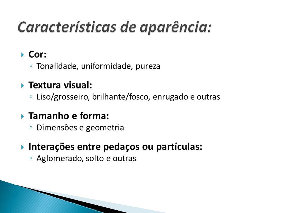 Características de aparência: