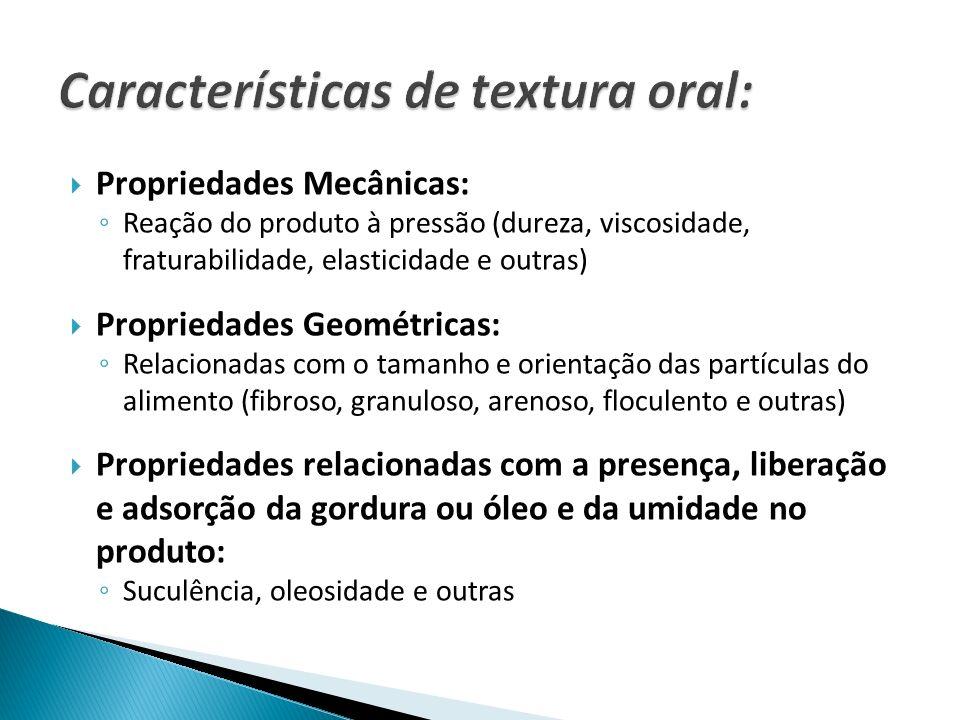 Características de textura oral: