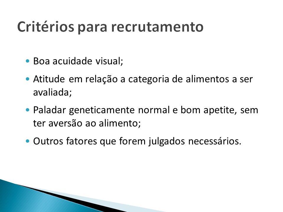 Critérios para recrutamento