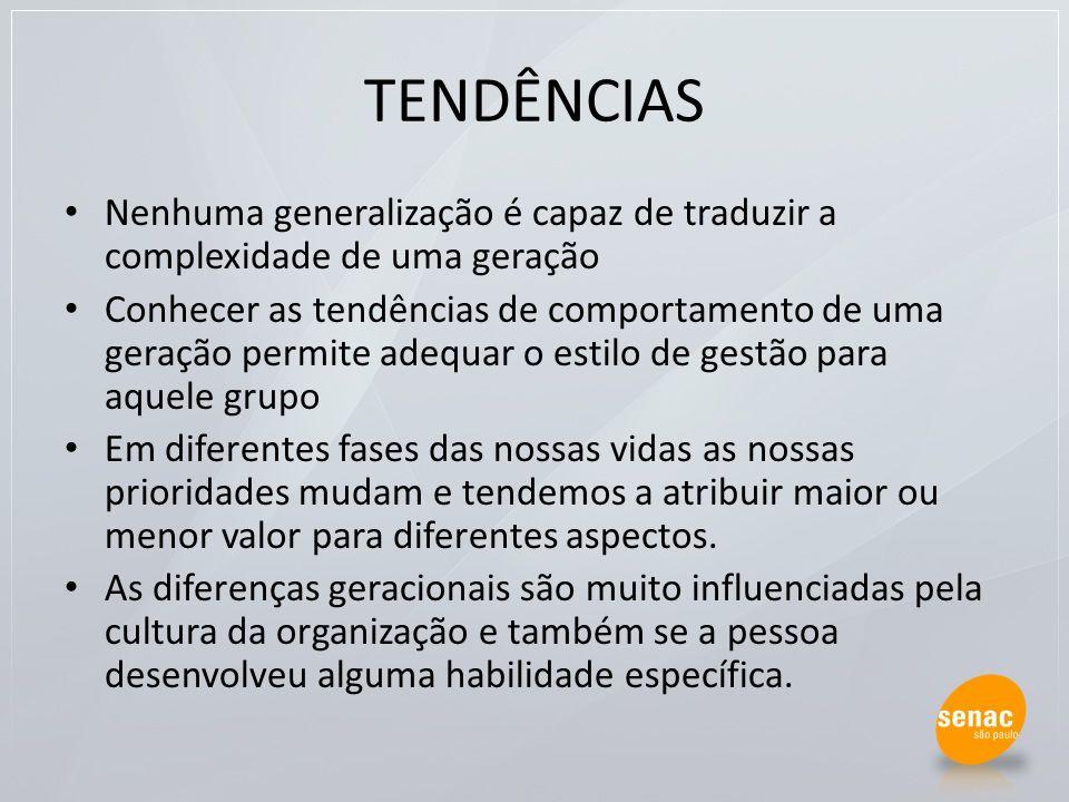 TENDÊNCIAS Nenhuma generalização é capaz de traduzir a complexidade de uma geração.