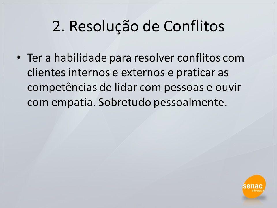 2. Resolução de Conflitos