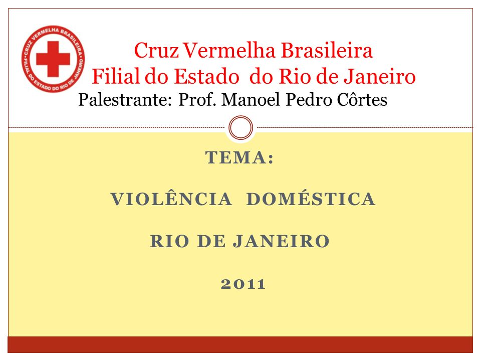 Tema: Violência Doméstica Rio de Janeiro 2011