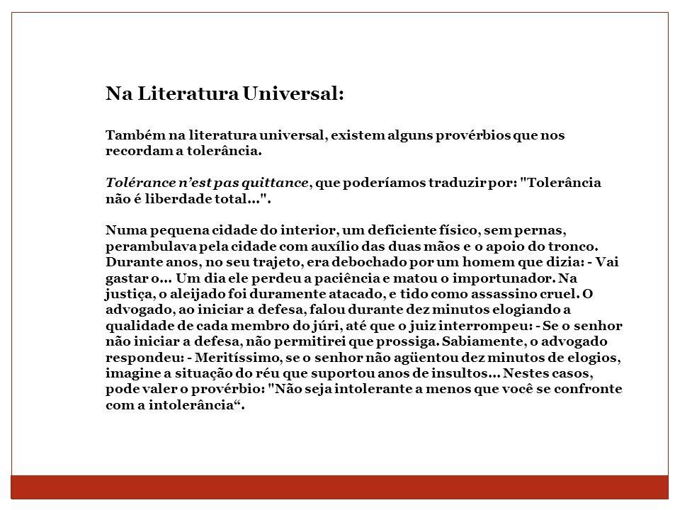 Na Literatura Universal: