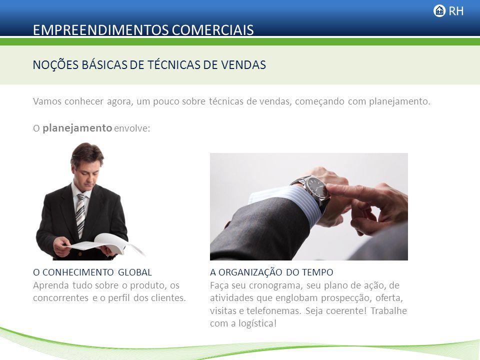 NOÇÕES BÁSICAS DE TÉCNICAS DE VENDAS