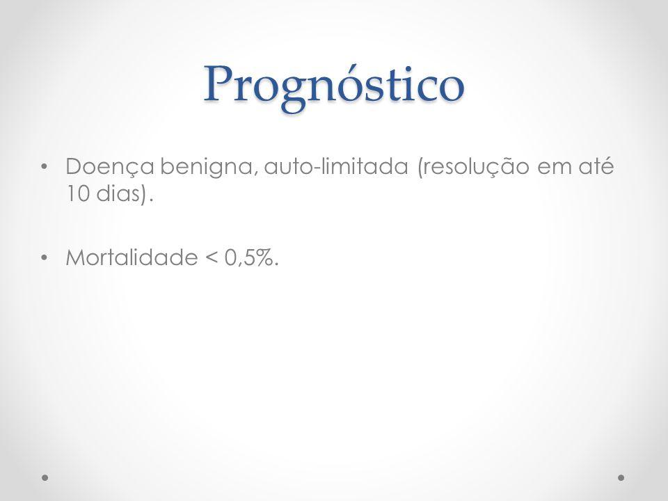 Prognóstico Doença benigna, auto-limitada (resolução em até 10 dias).