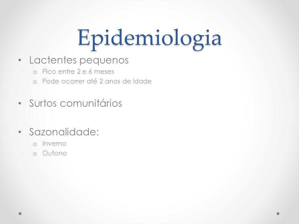 Epidemiologia Lactentes pequenos Surtos comunitários Sazonalidade: