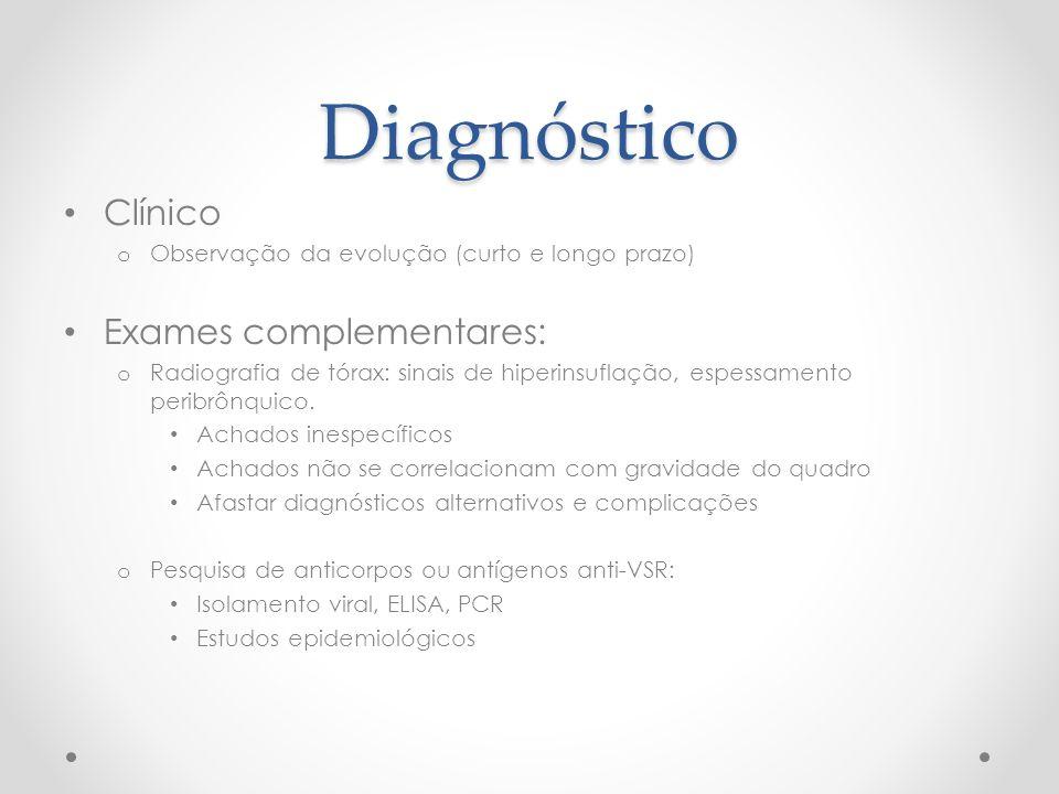 Diagnóstico Clínico Exames complementares: