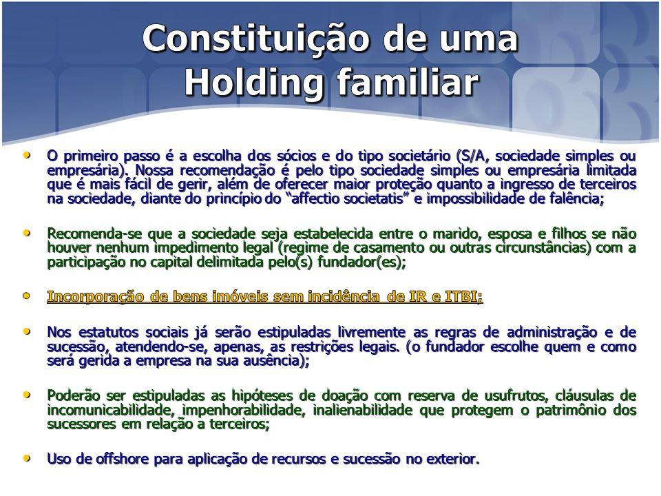 Constituição de uma Holding familiar
