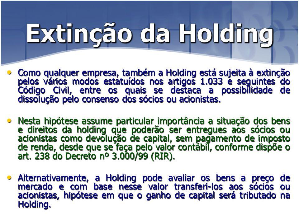 Extinção da Holding