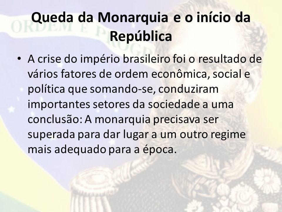 Queda da Monarquia e o início da República