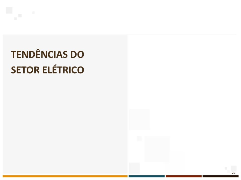 Tendências do setor elétrico