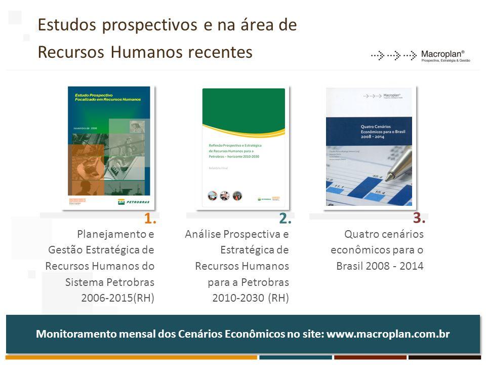 Estudos prospectivos e na área de Recursos Humanos recentes