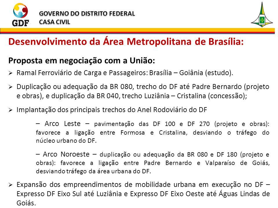 Desenvolvimento da Área Metropolitana de Brasília: