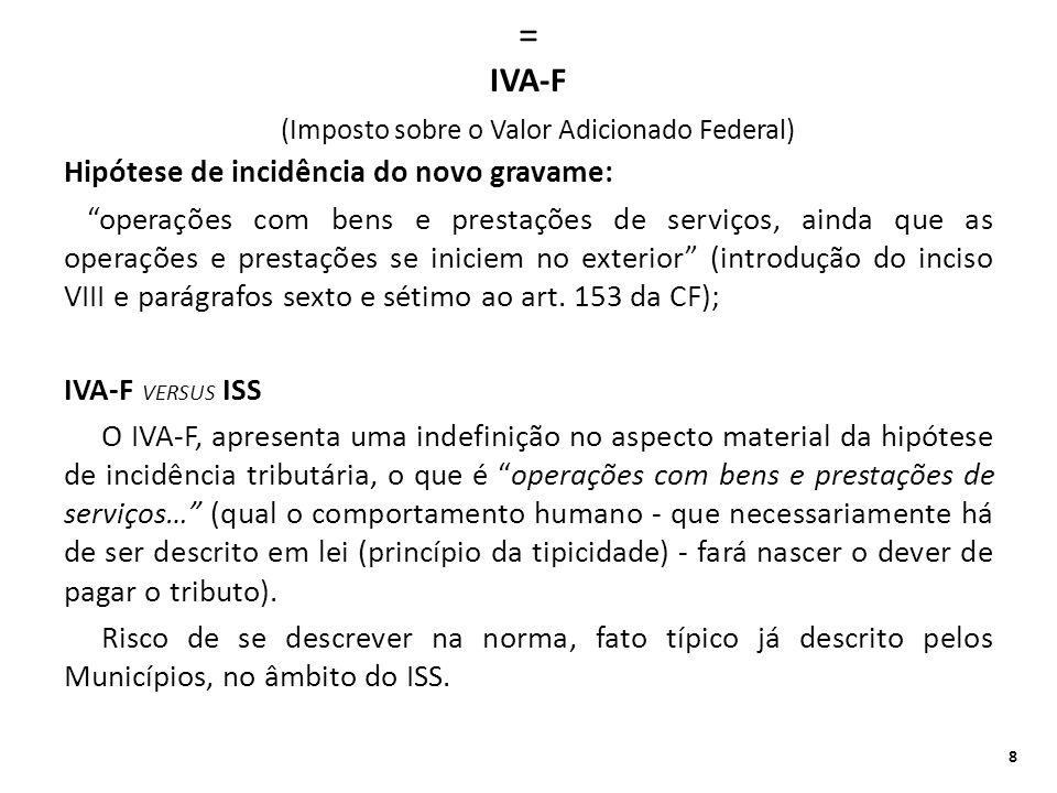 = IVA-F (Imposto sobre o Valor Adicionado Federal)