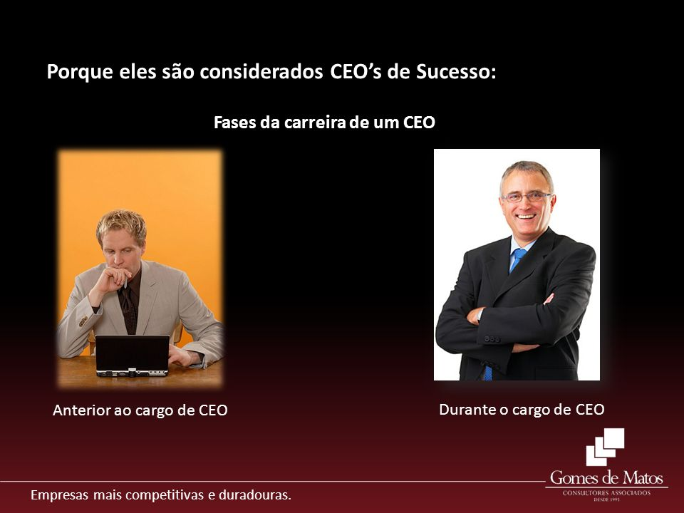 Porque eles são considerados CEO's de Sucesso: