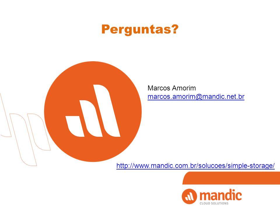 Perguntas Marcos Amorim marcos.amorim@mandic.net.br