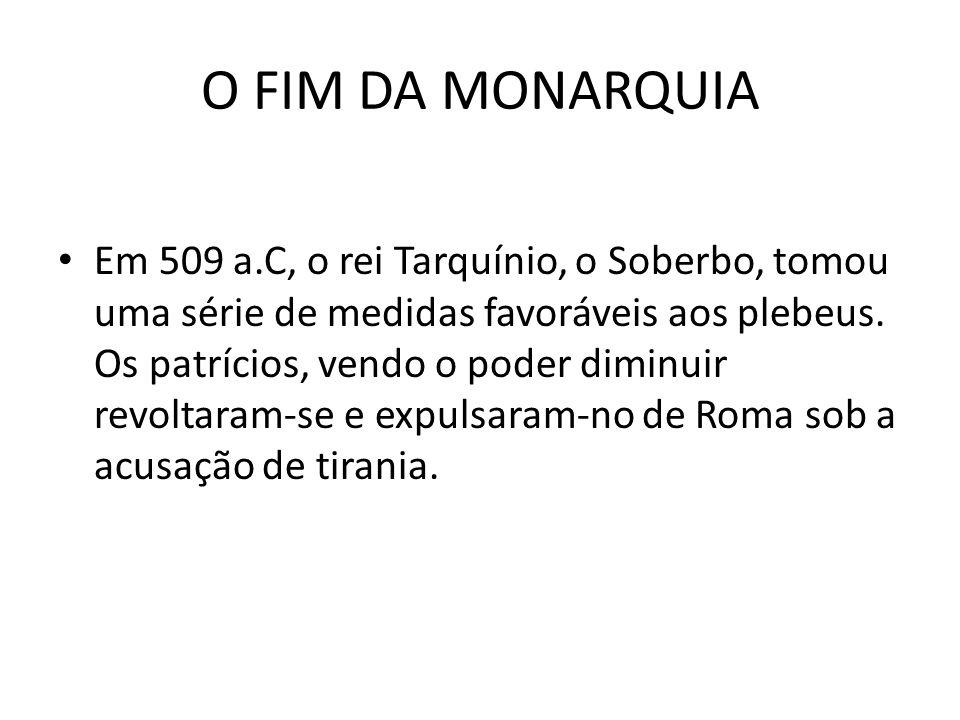 O FIM DA MONARQUIA