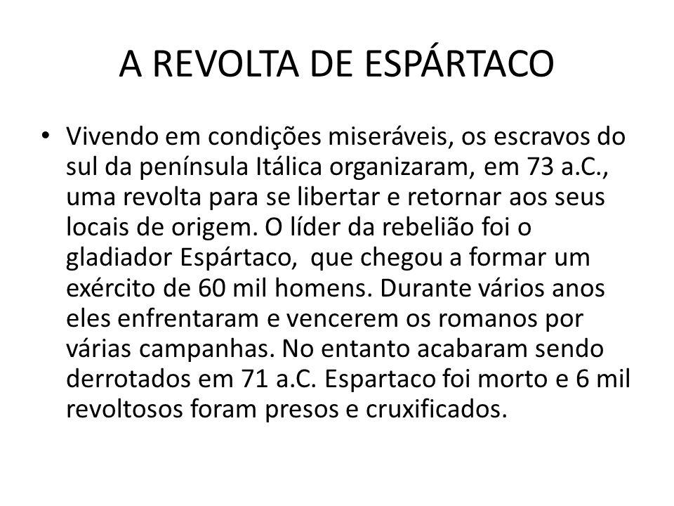 A REVOLTA DE ESPÁRTACO