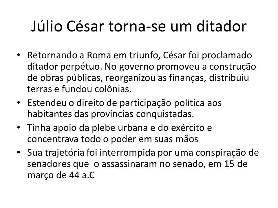 Júlio César torna-se um ditador