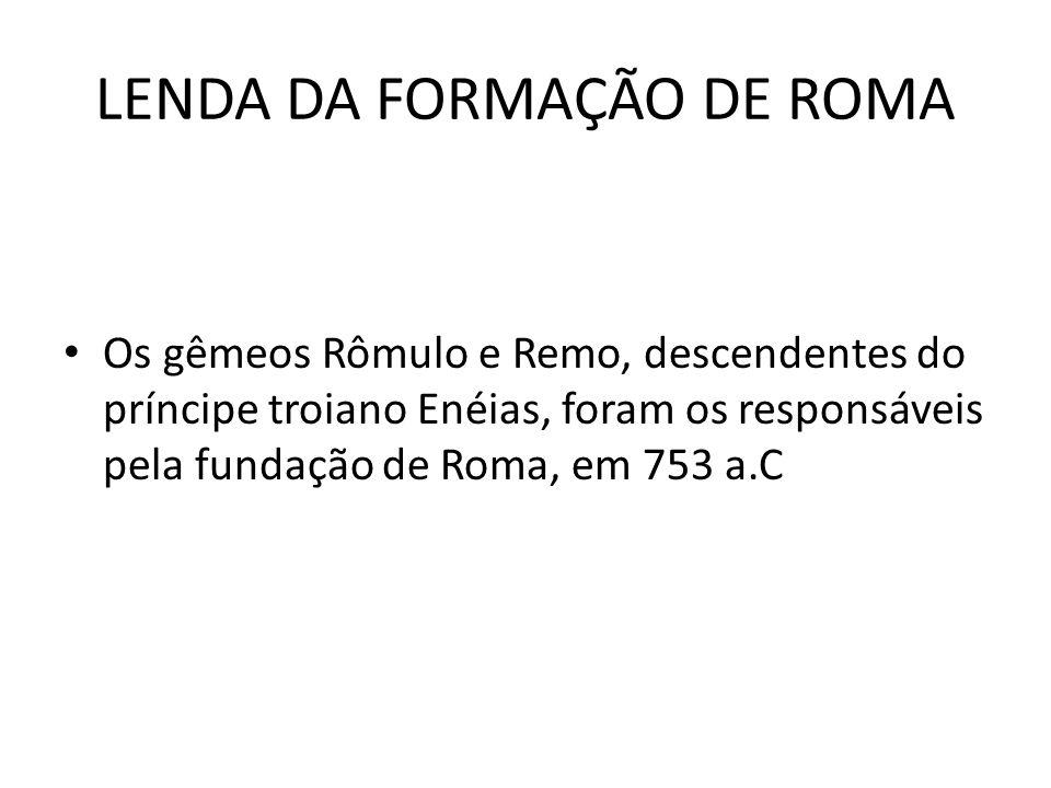 LENDA DA FORMAÇÃO DE ROMA