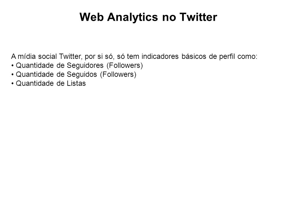 Web Analytics no Twitter