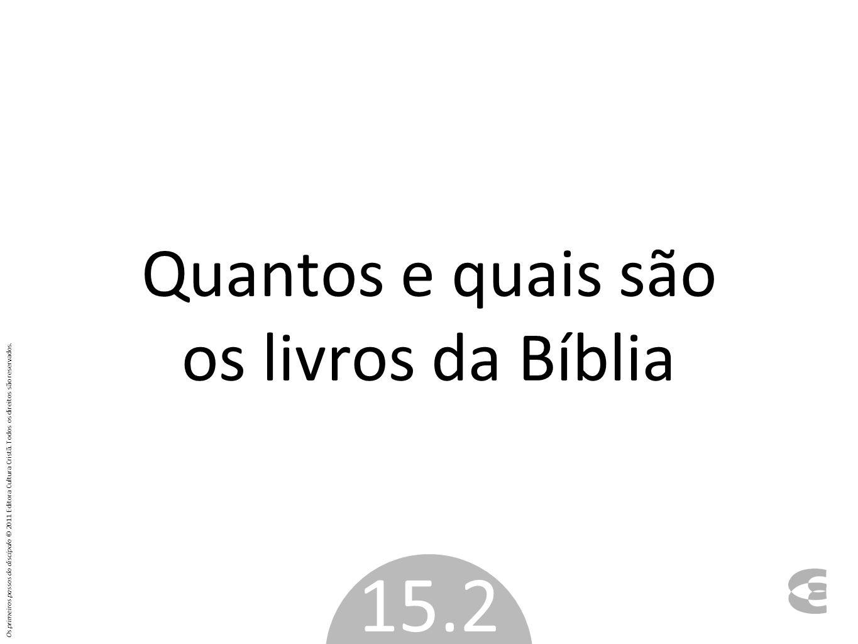 Quantos e quais são os livros da Bíblia