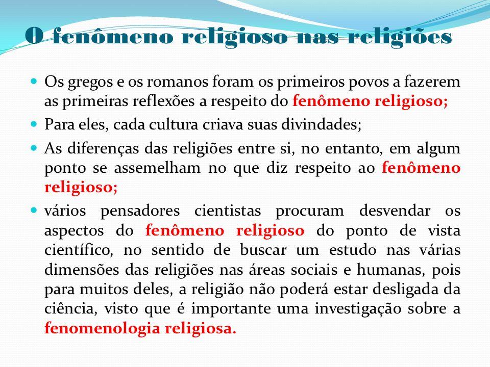O fenômeno religioso nas religiões