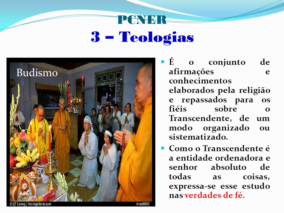 - PCNER 3 – Teologias Budismo