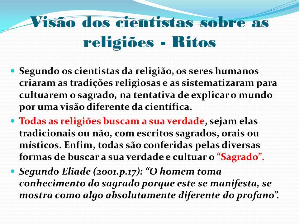 Visão dos cientistas sobre as religiões - Ritos