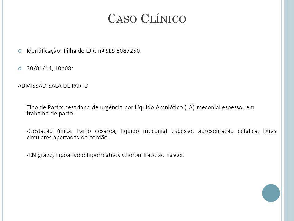 Caso Clínico Identificação: Filha de EJR, nº SES 5087250.