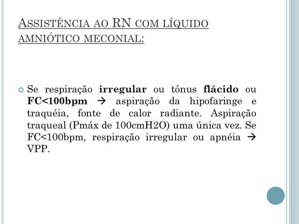 Assistência ao RN com líquido amniótico meconial:
