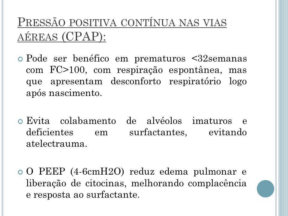Pressão positiva contínua nas vias aéreas (CPAP):