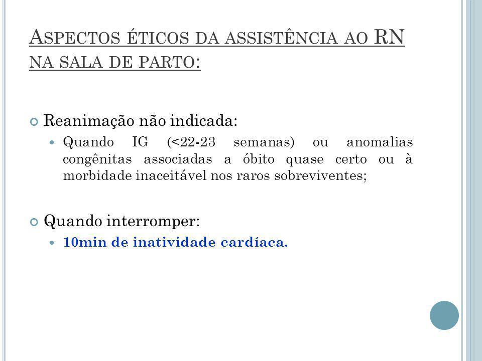 Aspectos éticos da assistência ao RN na sala de parto: