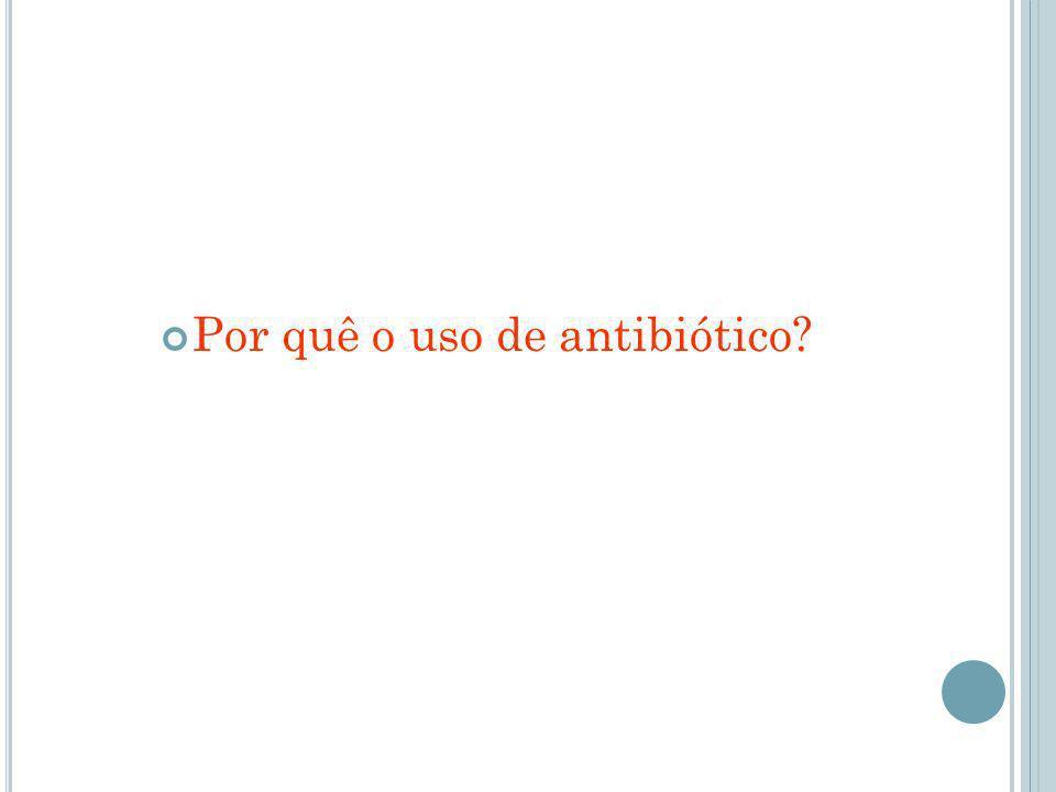 Por quê o uso de antibiótico
