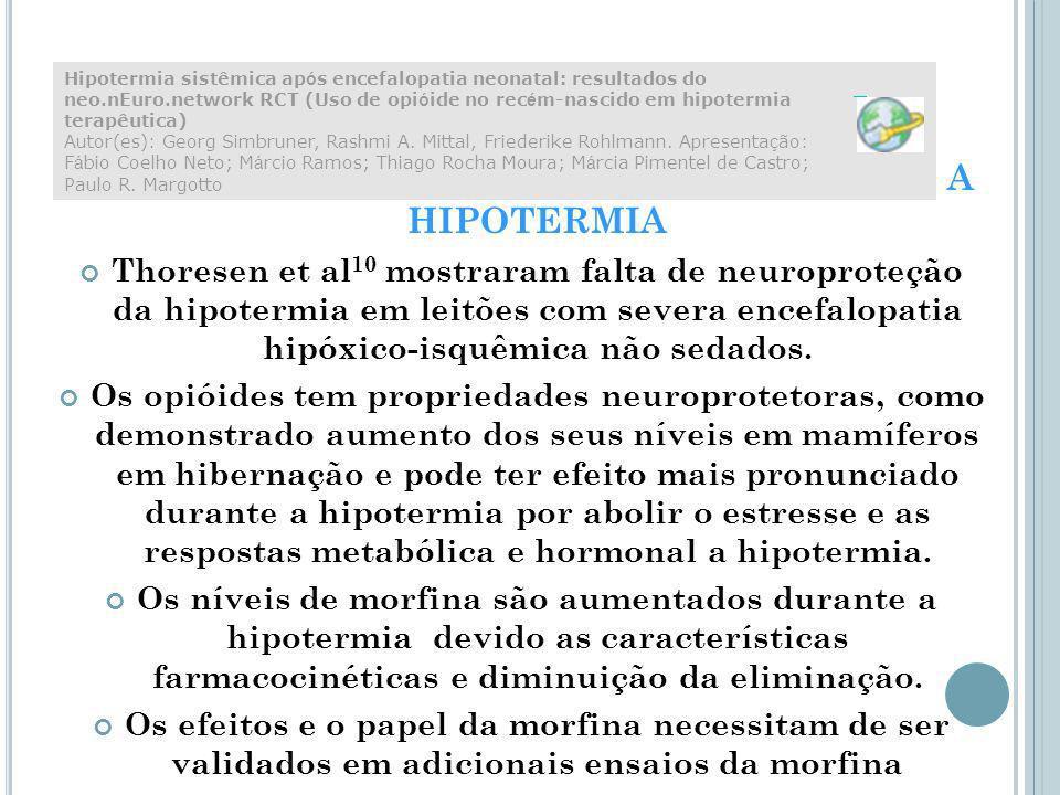 USO DE ANALGÉSICO OPIÓIDE DURTANTE A HIPOTERMIA