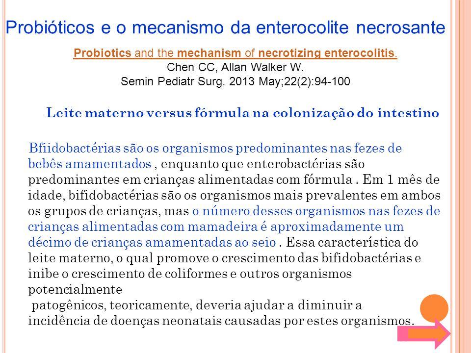 Probióticos e o mecanismo da enterocolite necrosante