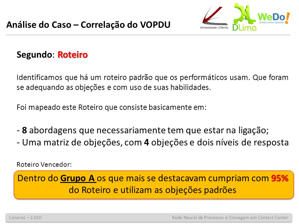 Conarec – 2.010 Rede Neural de Processos e Clonagem em Contact Center