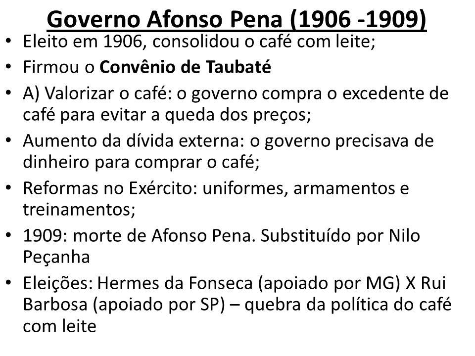 Governo Afonso Pena (1906 -1909)