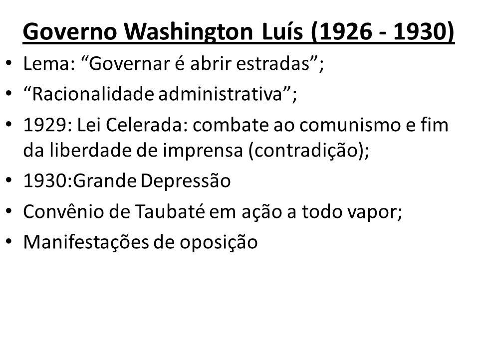 Governo Washington Luís (1926 - 1930)